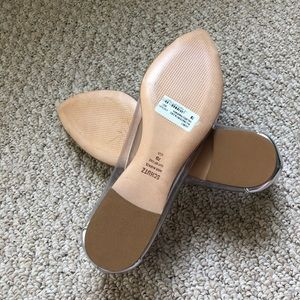 SCHUTZ Shoes - NEW - Schutz- Silver Clearly Flats - 7B